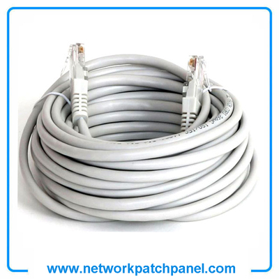 Grey Patch Cord Network Patch Lead 10FT 15FT 25FT 50FT Gray Cat5e Ethernet Patch Cable