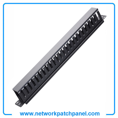 1U 24 Channel D-Ring Plastic Cable Manager Wire Manager China Cable Management Supplier Manufacturer