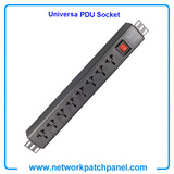 19 Inch 8 Gangs 8 Ways 8 Ports Switched Universal PDU Socket Power Distribution Unit With Switch