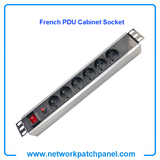 19 inch Standard Rack 6 Gangs 6 Ways French PDU Sockets for Cabinet