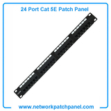 China 1U Unshield RJ45 UTP 24 Port Cat 5E Cat5e Patch Panel Manufacturers,Suppliers and Factory