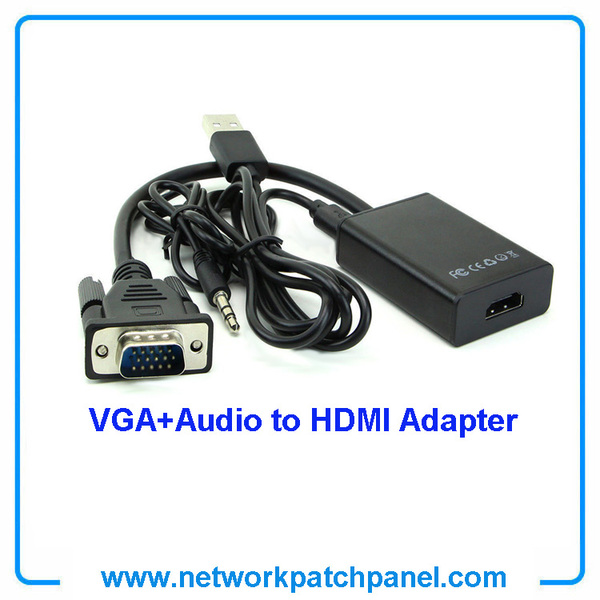 VGA to HDMI Video Converter Adapter Cable,