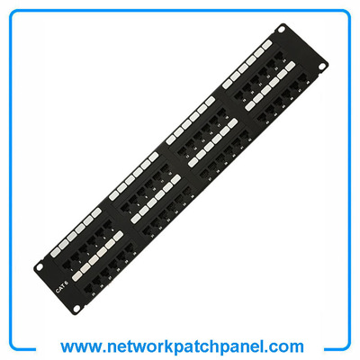 "19"" 2U 48 Port STP Shielded Cat6 NetWork Patch Panel China Shielded Patch Panel Manufacturers"