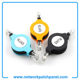 1.5m Travel Flexible Adjustable Retractable LAN Cat5E Network Ethernet Cable RJ45