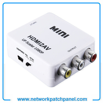 Mini 1080P HDMI TO AV RCA Converter Adaptor HDMI Mini to RCA Adapter