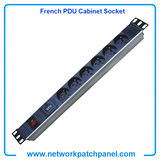 19 inch Standard Rack 8 Gangs 8 Ways French PDU Cabinet Sockets with Switch