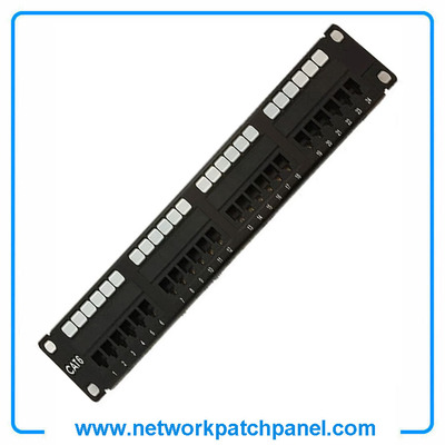 24 Port STP Shielded Cat6 Network Patch Panel Patch Bay china Patch Panel Suppliers