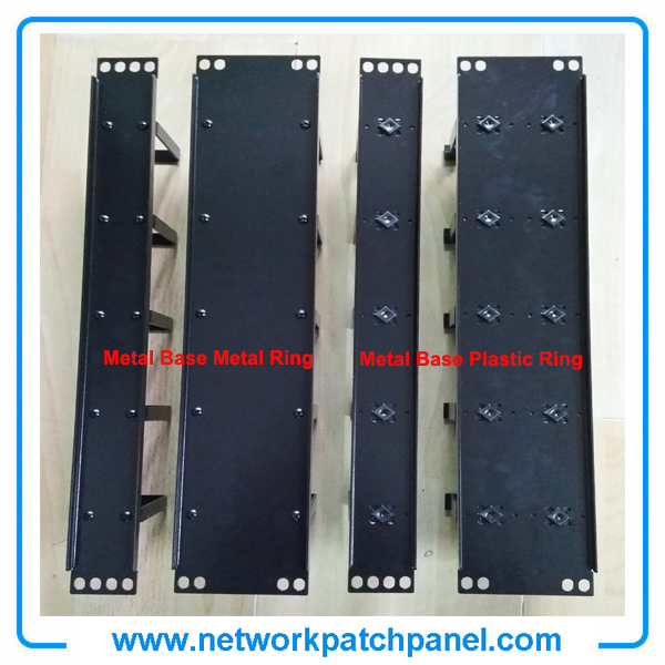 China Network Cable Manager with 5 PCS Plastic Rings 19 Inch Metal Horizontal Cable Management Manufacturer