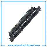 "19"" Inch 1U RJ11 Rack Voice Patch Panels 25 Port RJ11 Telephone Patch Panel"