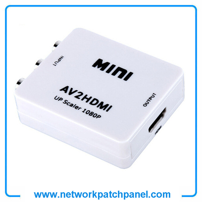 Mini HD 720P1080P 60H Video Audio White Box AV to HDMI Converter Adaptor