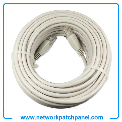 White 50ft 100ft Cat6 Cat5e RJ45 Patch Ethernet Network Cable