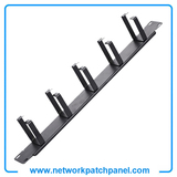 1U Cable Wire Management Panel Rack 5 Ring 19 Inch D-Ring Steel Cable Management Bracket