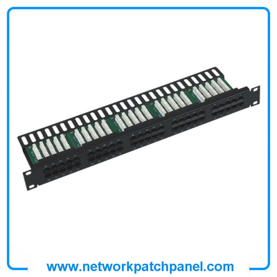 "China 19"" 50 Ports Cat3 RJ11 Telephone Voice Patch Panel Manufacturer, Supplier and Factory"