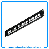 1U 19 Inch 180 Degree Horizontal 24 Port Modular Patch Panels Suppliers