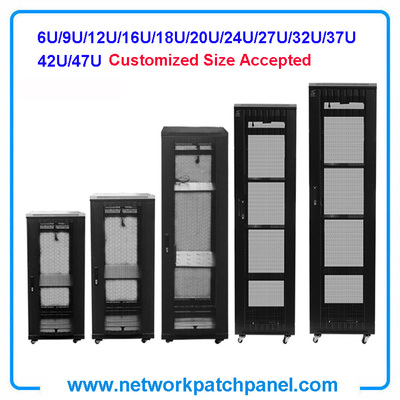 Customized Network Server Cabinet Rack Enclosures 19 Inch 12U 16U 18U 24U 42U 47U Network Cabinet