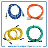 Optical Fiber Network Cables Orange Yellow Blue Green Multimode Fiber Optic Cables Fiber Optic Leads