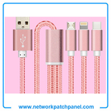 Nylon Braided USB 8pin Charger Cable for Iphone and Android