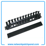 "19"" Rack 1 U High Impatch ABS Cable Management Panel Patch Lead Cord Wire Cable Manager Organizer"