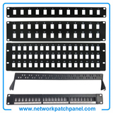 12 24 48 Ports Blank Patch Panel for Cat5e Cat6 24 Port Blank Patch Panel Factory