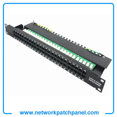"19"" 50 Port Cat3 110-IDC RJ11 Patch Panels 110 Patch Panel Manufacturers"