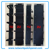 China 19 Inches 1U 2U 5 Rings Metal Cable Managements Panel Bar