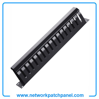 1U 16 D-Ring Channel Metal Cable Management Network Wire Management