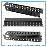 12 Channel 2U Metal Patch Cable Management Patch Lead Management Organizer