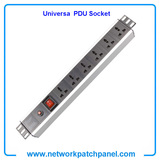 19 Inch 6 Gangs 6 Ways 6 Ports Universal PDU Socket Power Distribution Unit With Switch