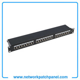 "UTP FTP STP Cat5e Cat.6 1U 19"" Inch 24 Ports Patch Panel Unshielded Patch Panel Manufacturers"