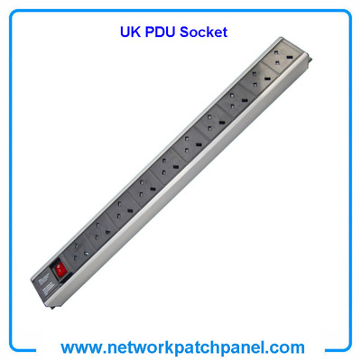 19 inch Standard 10 Gangs 10 Ways British UK PDU Cabinet Sockets With Switch