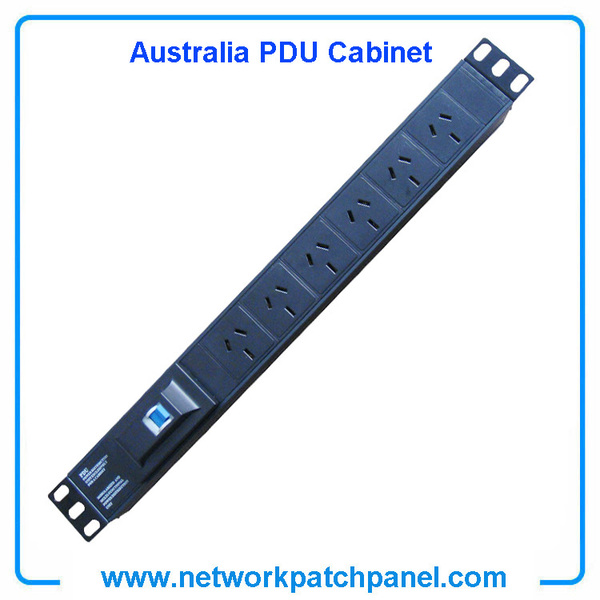 6 Ways Circuit Breaker Australia PDU Cabinet Sockets With Overload Protection