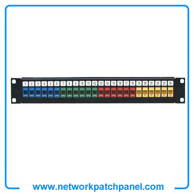 Cat5e Cat6 24-Port Colors Network Ethernet Patch Panel Network Patch Panel Suppliers