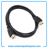 1.8m High Speed 1080P 3D Version 2.0 Ethernet Cord Black HDMI Cable