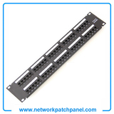 50 Port Cat6 Patch Panel Gigabit RJ45 LAN Ethernet Network Rack Mounted 2U