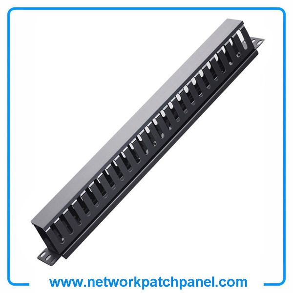 1U 24 Channels Network Patch Panel Cable Manager Wire Manager Plastic Cable Management Manufacturers