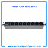 "19"" inch Standard Rack 8 Gangs 8 Ways French PDU Cabinet Sockets French Cabinet PDU Factory"