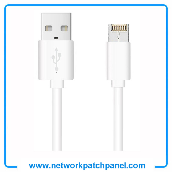 USB Android Apple Iphone Charger Cable White